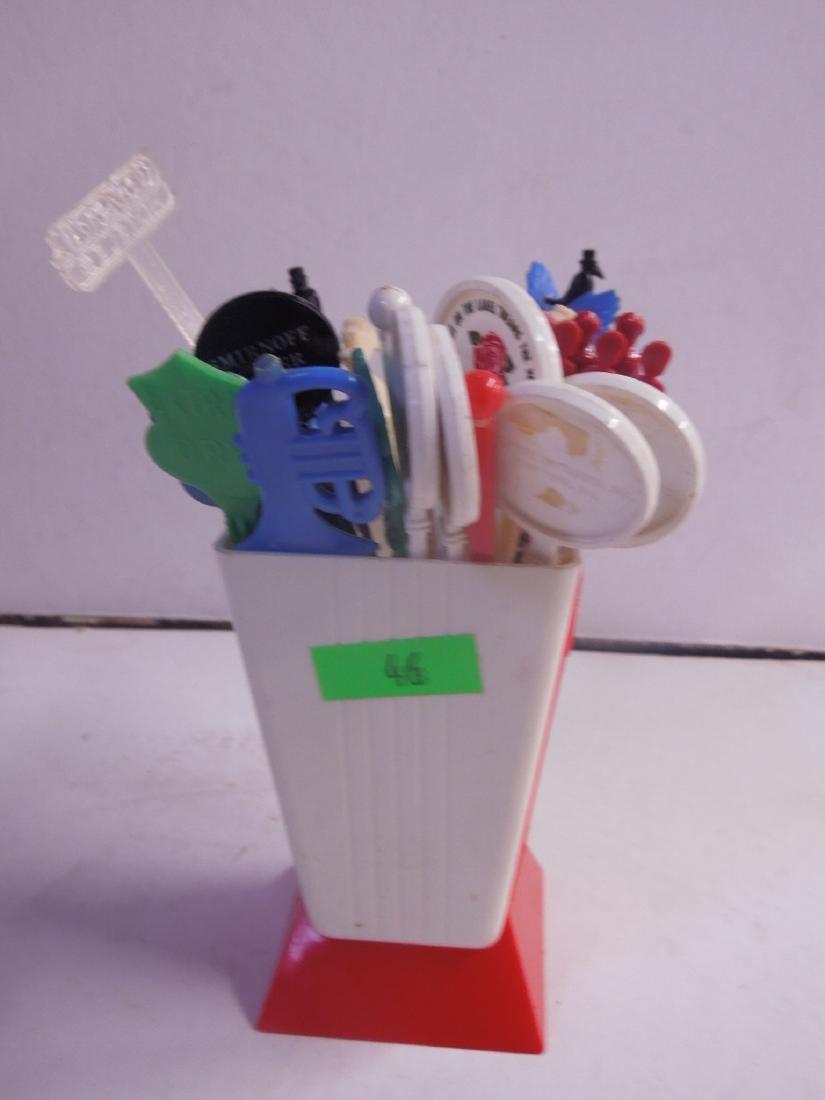 Vintage Plastic Corby's Swizzle Stick Holder - 4