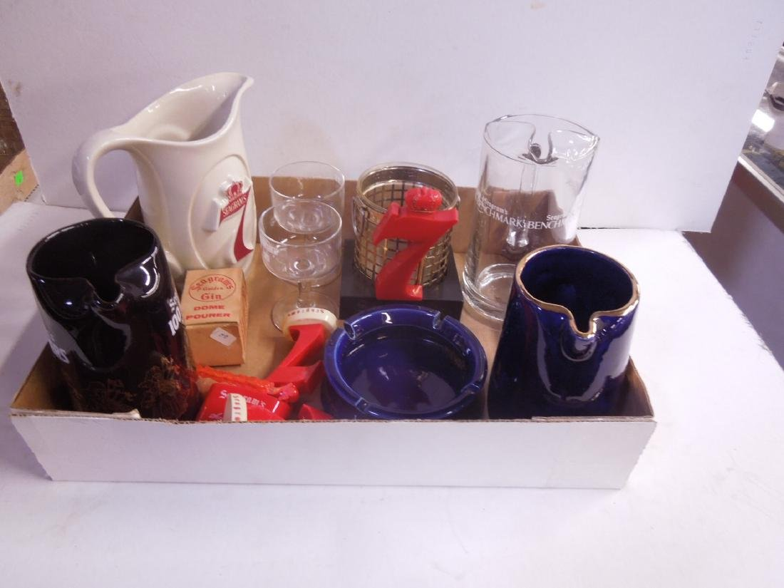 Lot Assorted Seagram's Advertising Collectibles