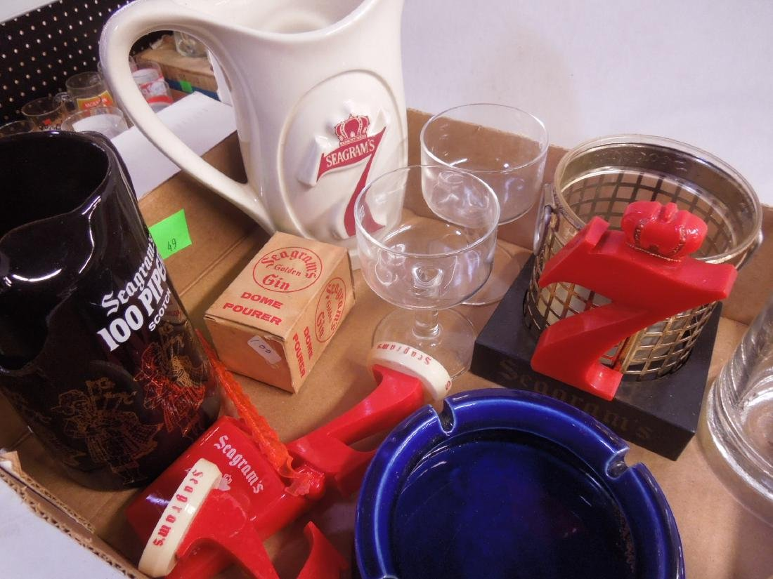 Lot Assorted Seagram's Advertising Collectibles - 4