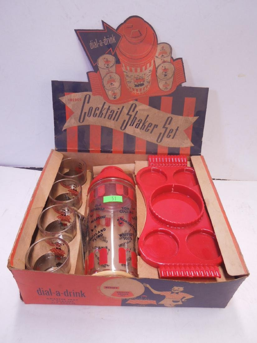 Vintage Cocktail Shaker Set in Box