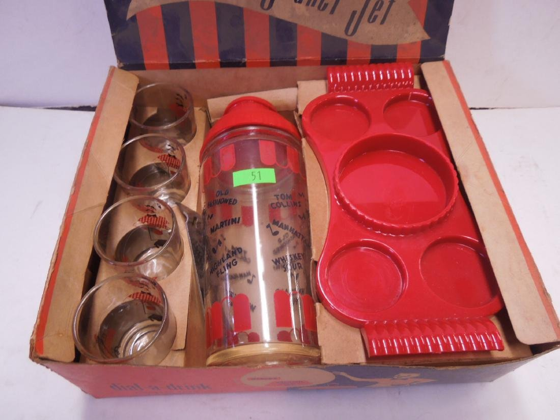Vintage Cocktail Shaker Set in Box - 2