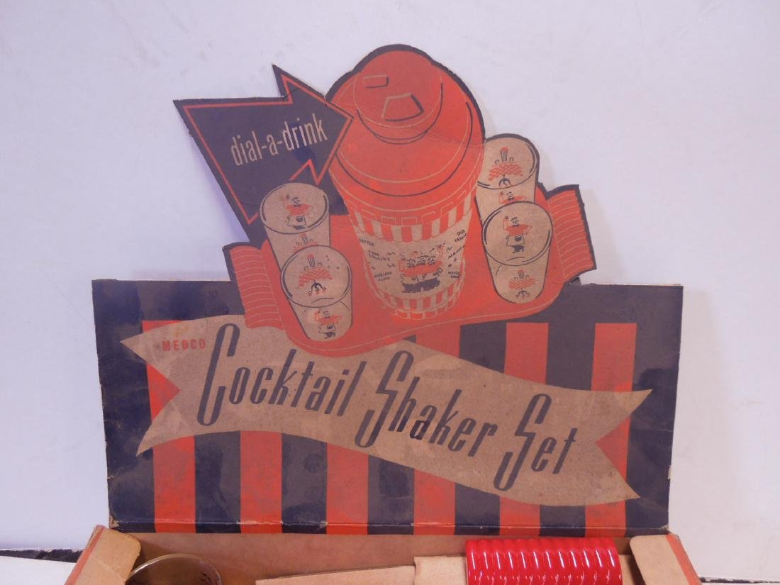 Vintage Cocktail Shaker Set in Box - 4