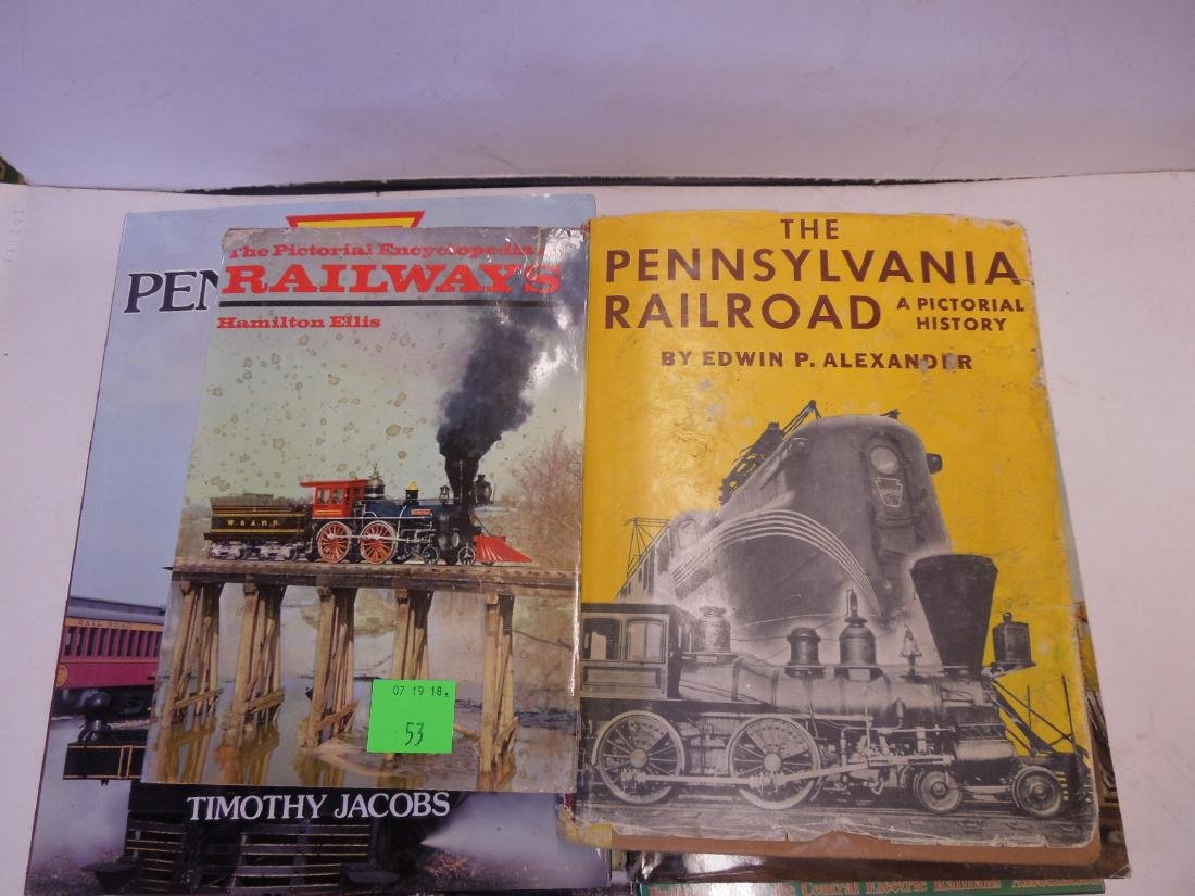 Lot hardback Railroad Books