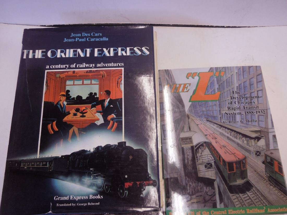 Lot hardback Railroad Books - 5