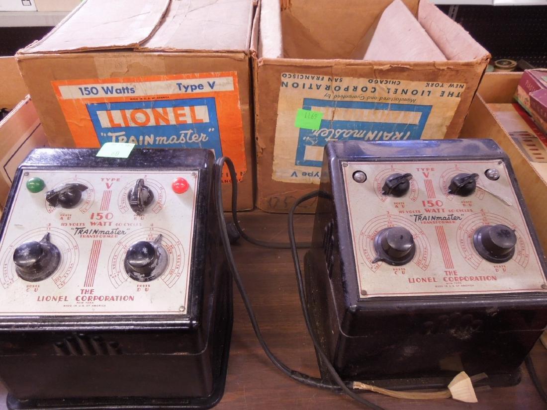 2 Train Master Lionel Transformers w/Boxes