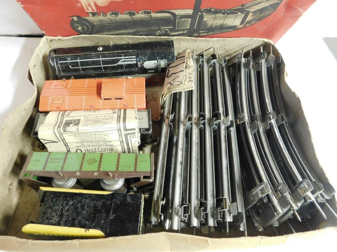 Vintage Hafner Tin Windup Train Set - 2