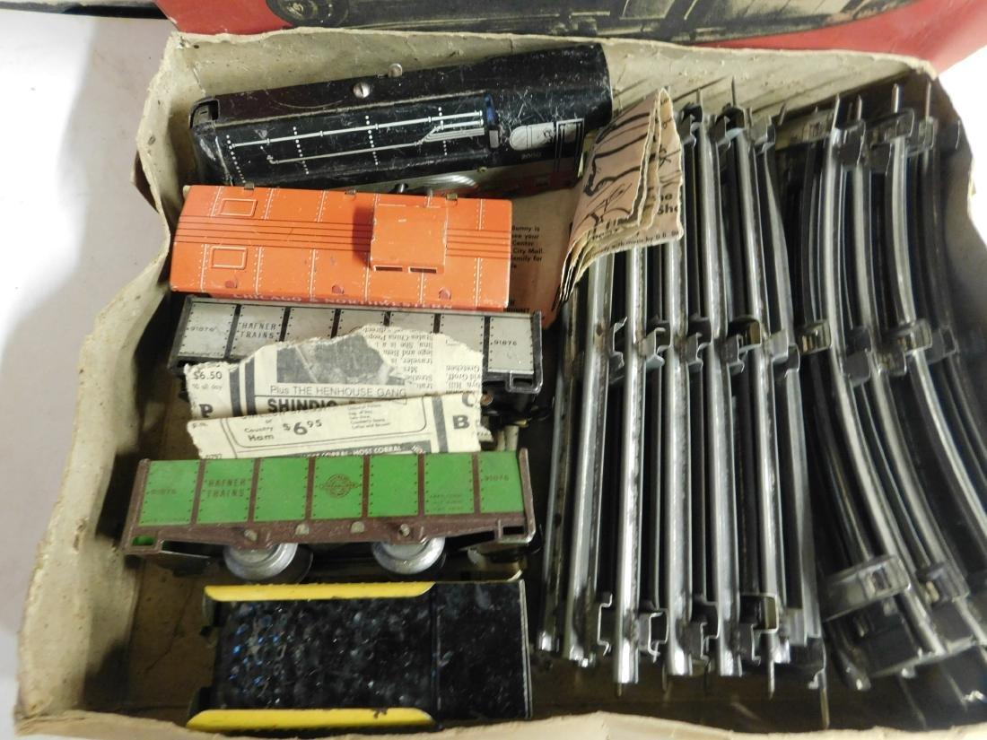 Vintage Hafner Tin Windup Train Set - 3