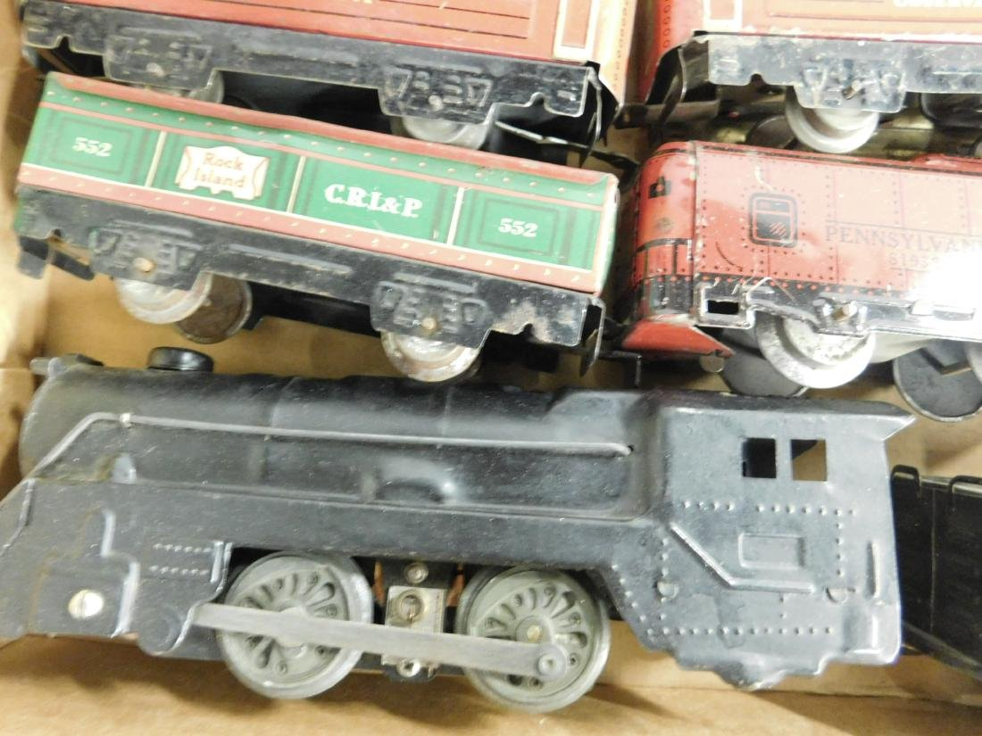 Marx Tin Locomotive Tender & Cars - 3