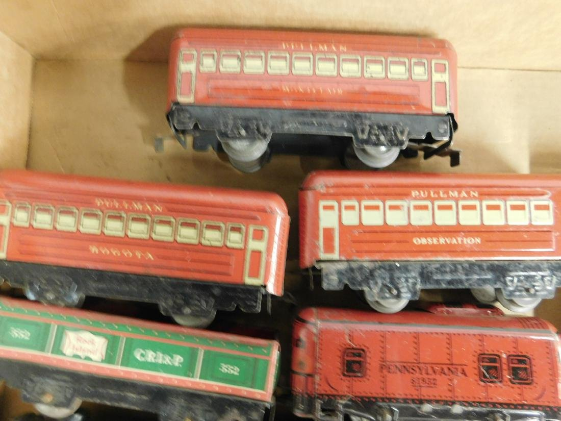 Marx Tin Locomotive Tender & Cars - 4