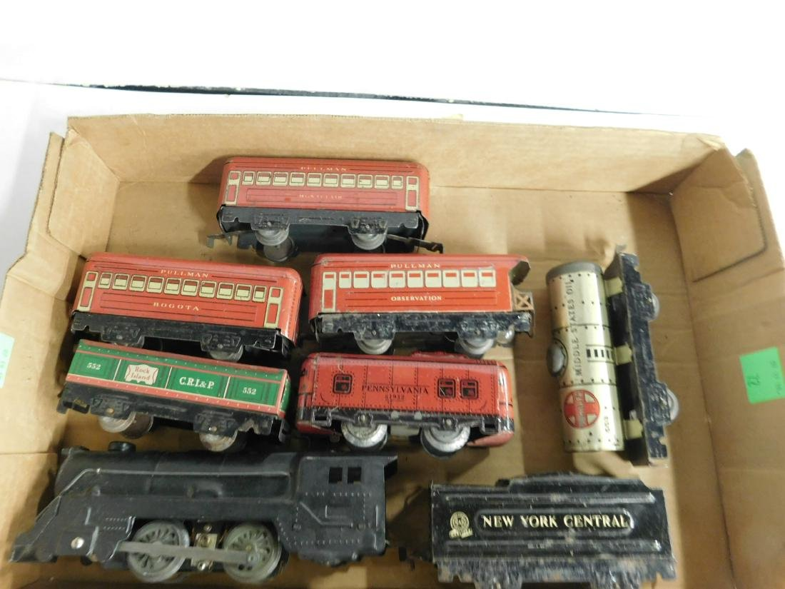 Marx Tin Locomotive Tender & Cars - 5