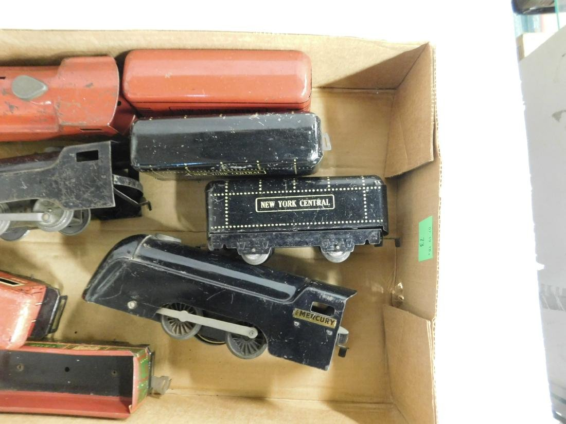 Vintage Marx Locomotives & Train Cars - 2