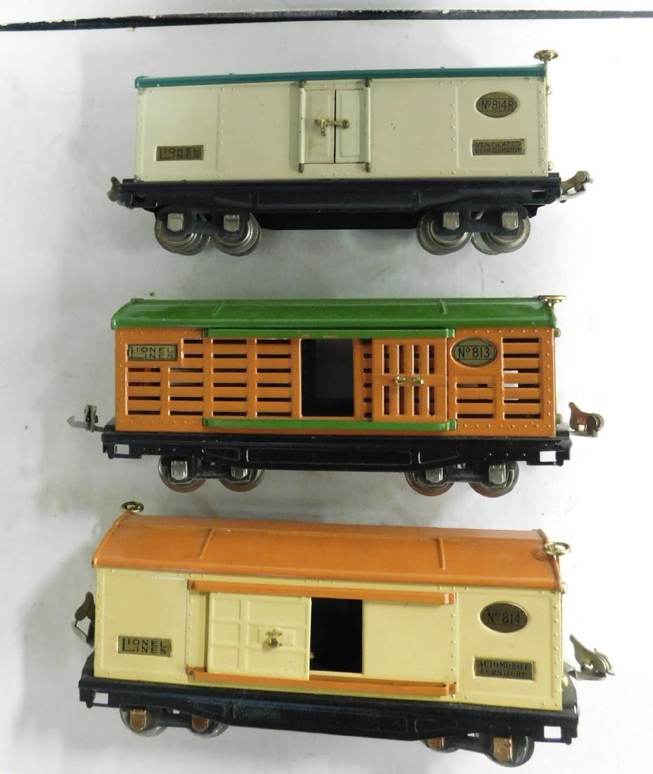 "3 Lionel Prewar ""O"" Gauge Train Cars"