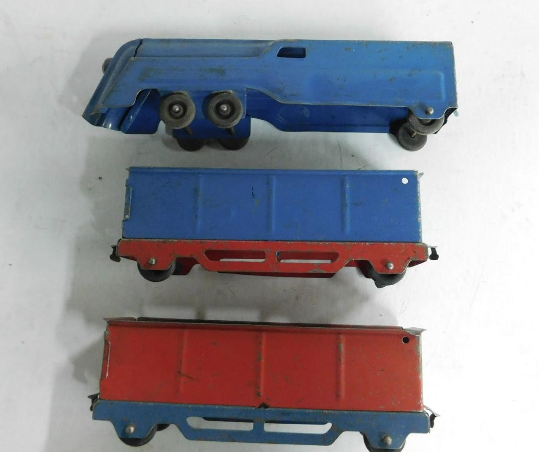 3 Piece Tin Toy Train Set