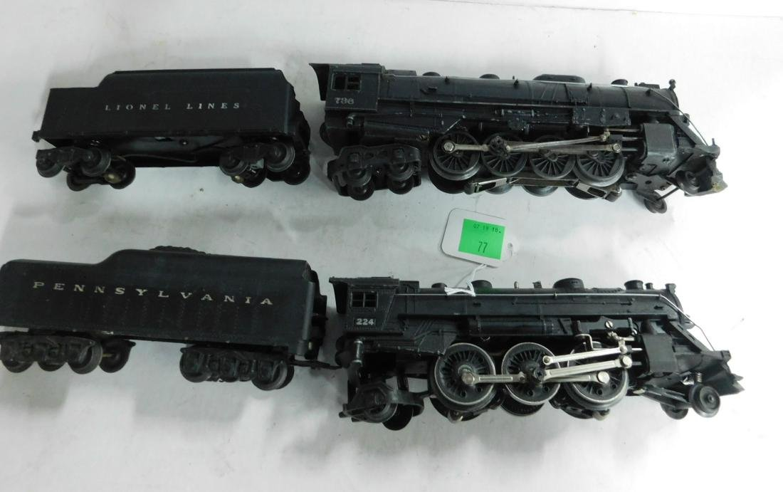 2 Postwar Lionel Steam Engine & Tender