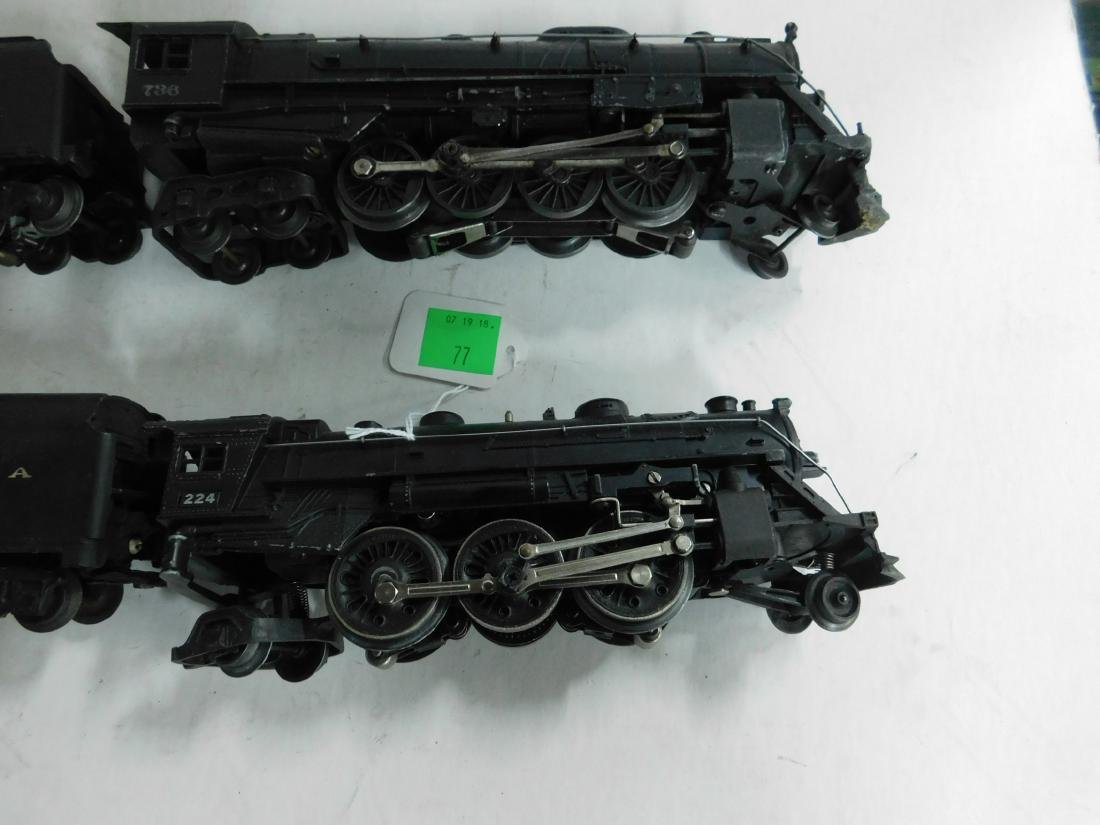 2 Postwar Lionel Steam Engine & Tender - 2