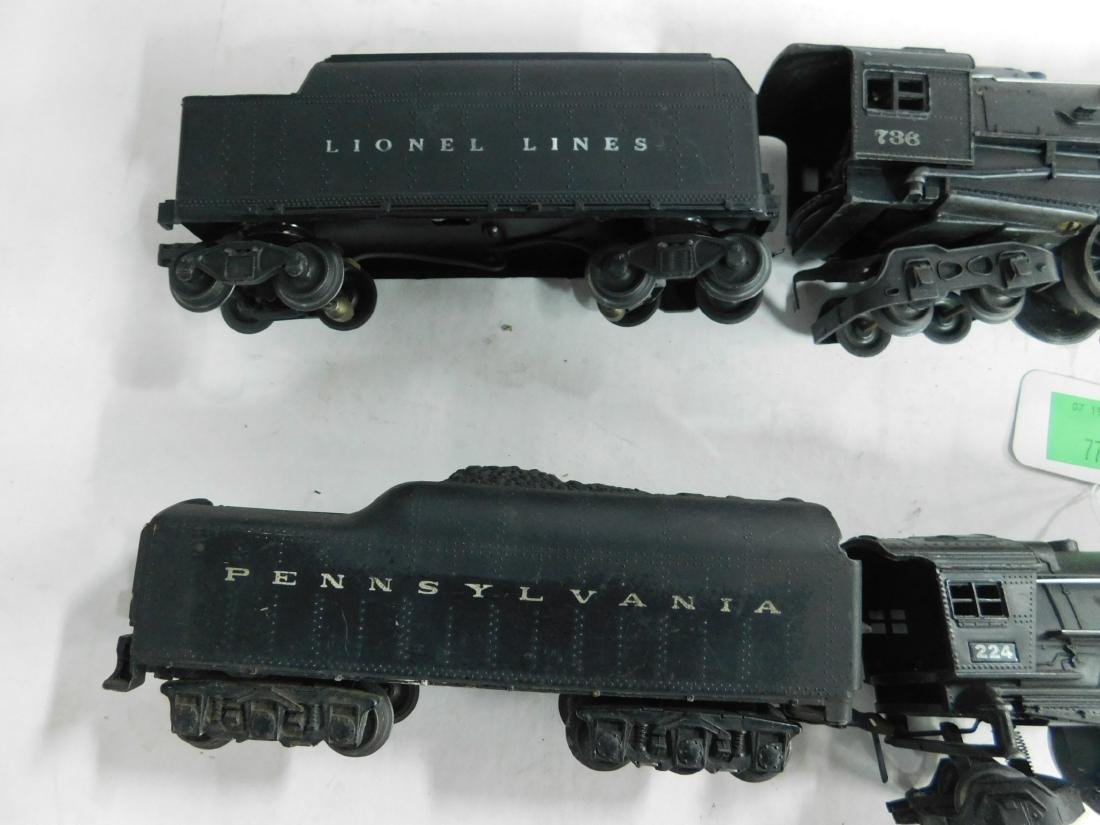 2 Postwar Lionel Steam Engine & Tender - 4