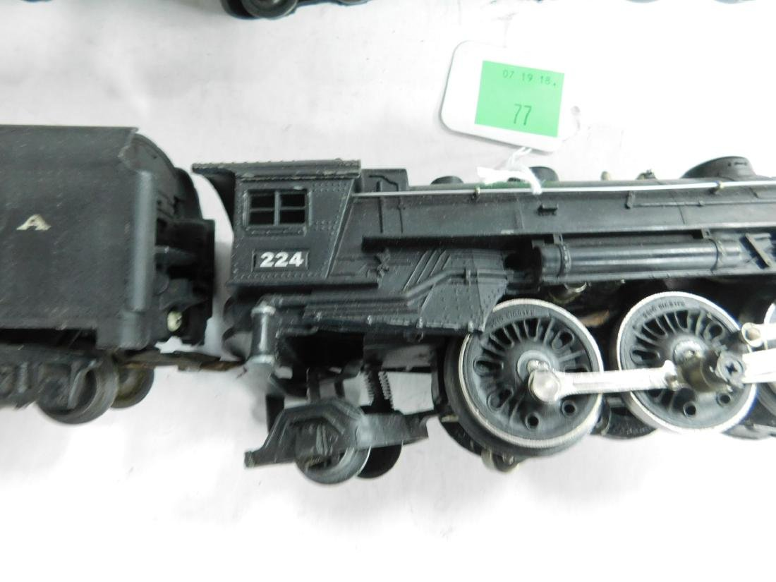 2 Postwar Lionel Steam Engine & Tender - 5