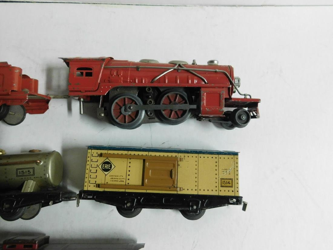 Vintage Winner Tin Engine and Train Cars - 2