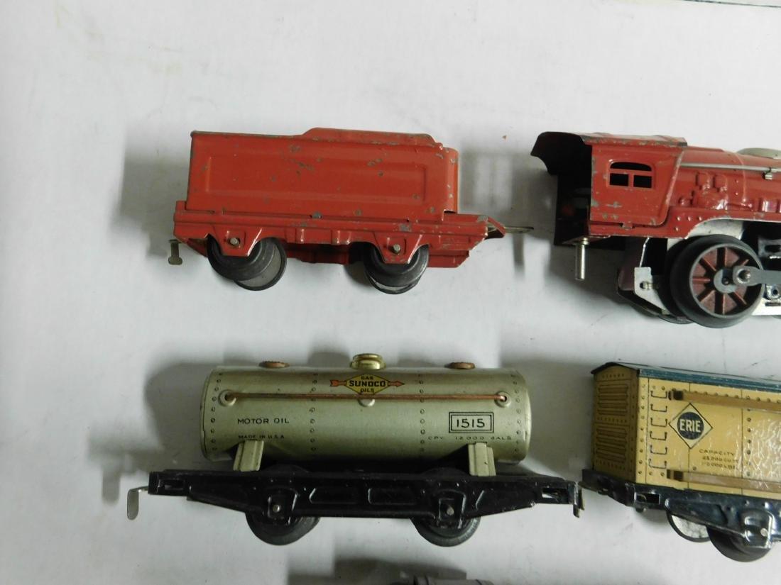 Vintage Winner Tin Engine and Train Cars - 3