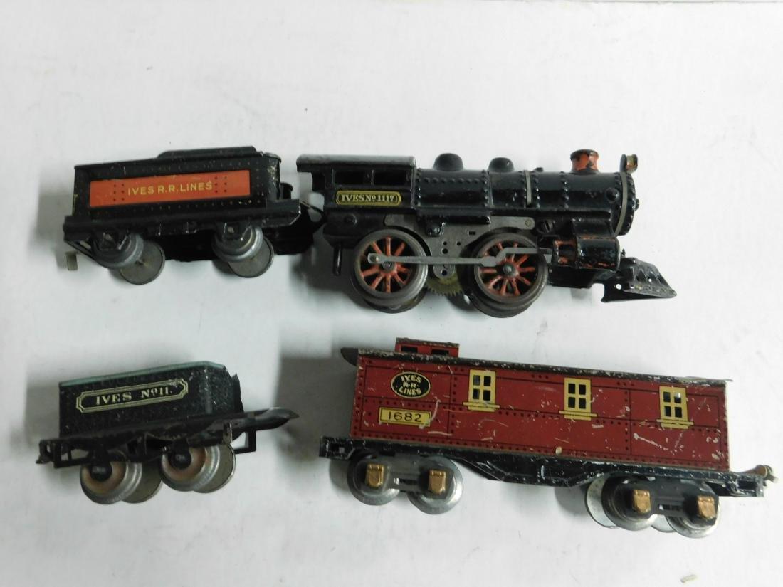 Vintage Ives RR Line Engine & Cars - 2