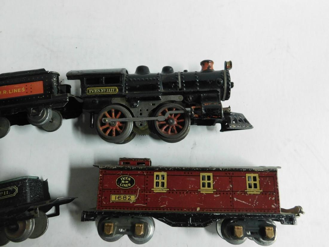 Vintage Ives RR Line Engine & Cars - 3