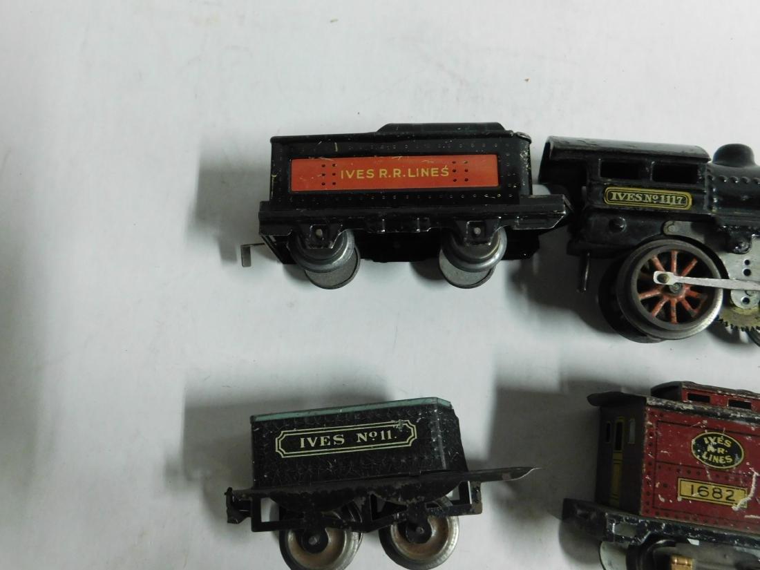 Vintage Ives RR Line Engine & Cars - 4