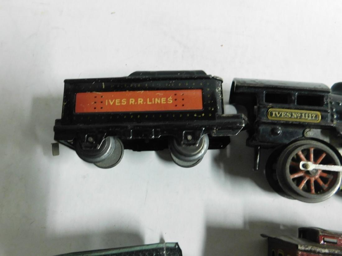 Vintage Ives RR Line Engine & Cars - 5