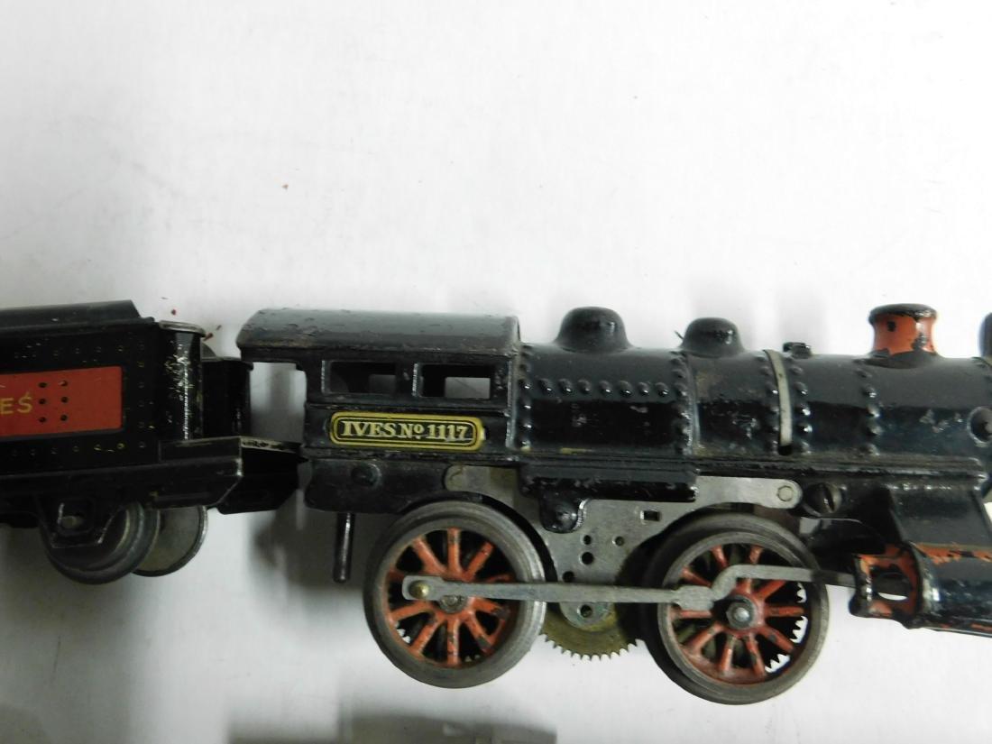 Vintage Ives RR Line Engine & Cars - 7