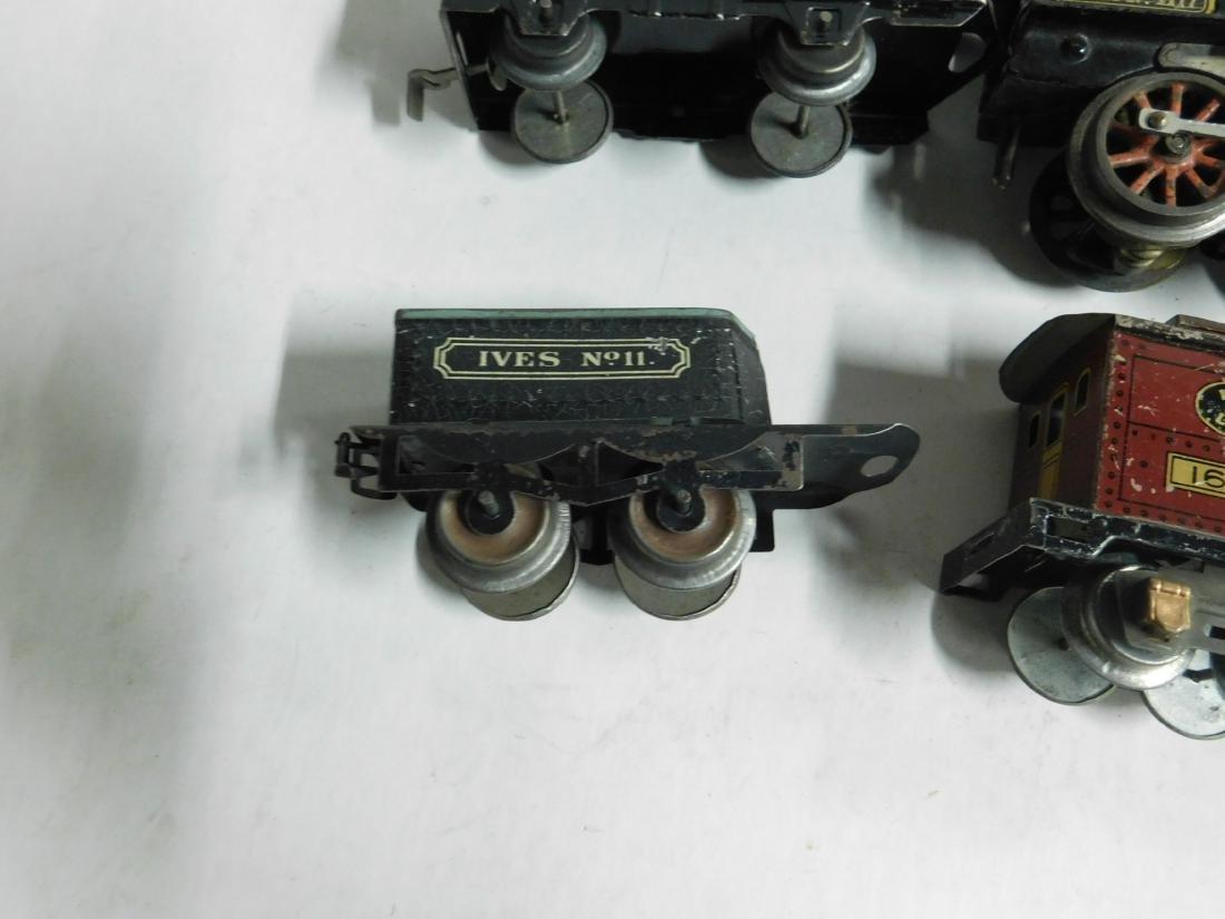 Vintage Ives RR Line Engine & Cars - 8