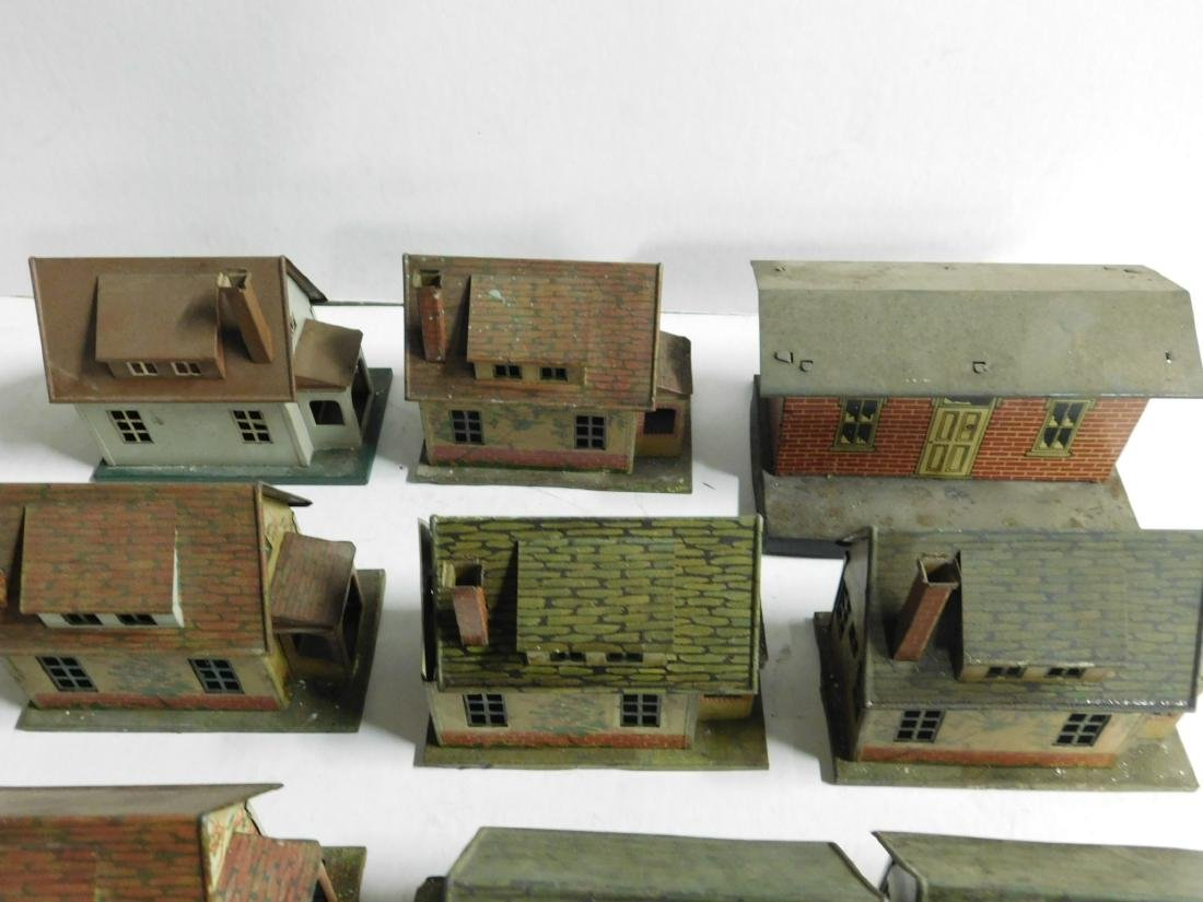 8 Vintage Lionel Tin Litho Buildings - 2