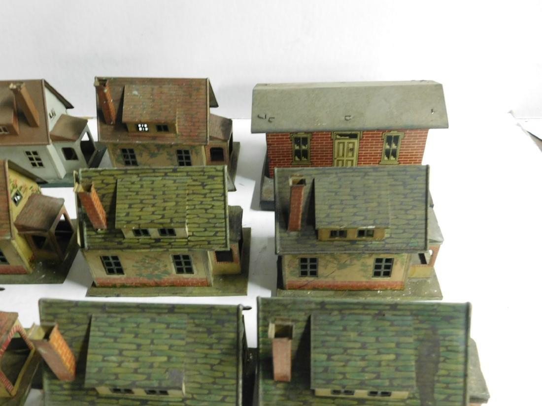 8 Vintage Lionel Tin Litho Buildings - 3