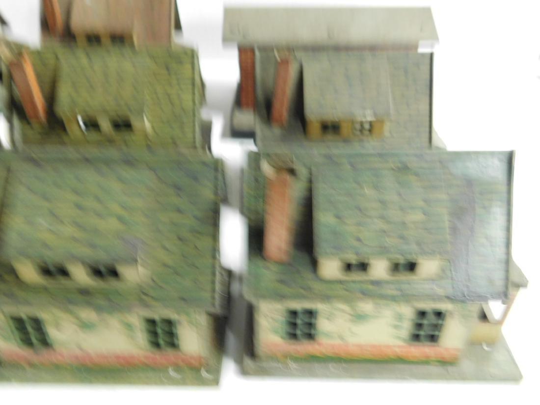 8 Vintage Lionel Tin Litho Buildings - 4