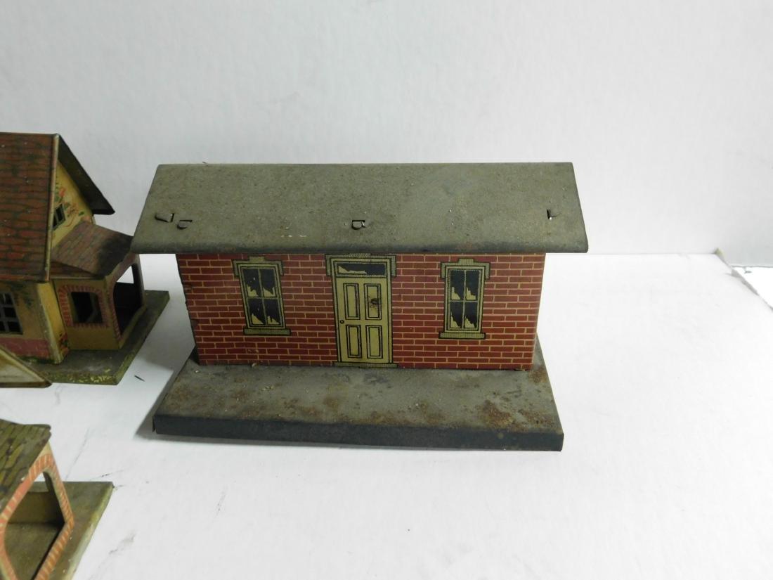 8 Vintage Lionel Tin Litho Buildings - 7