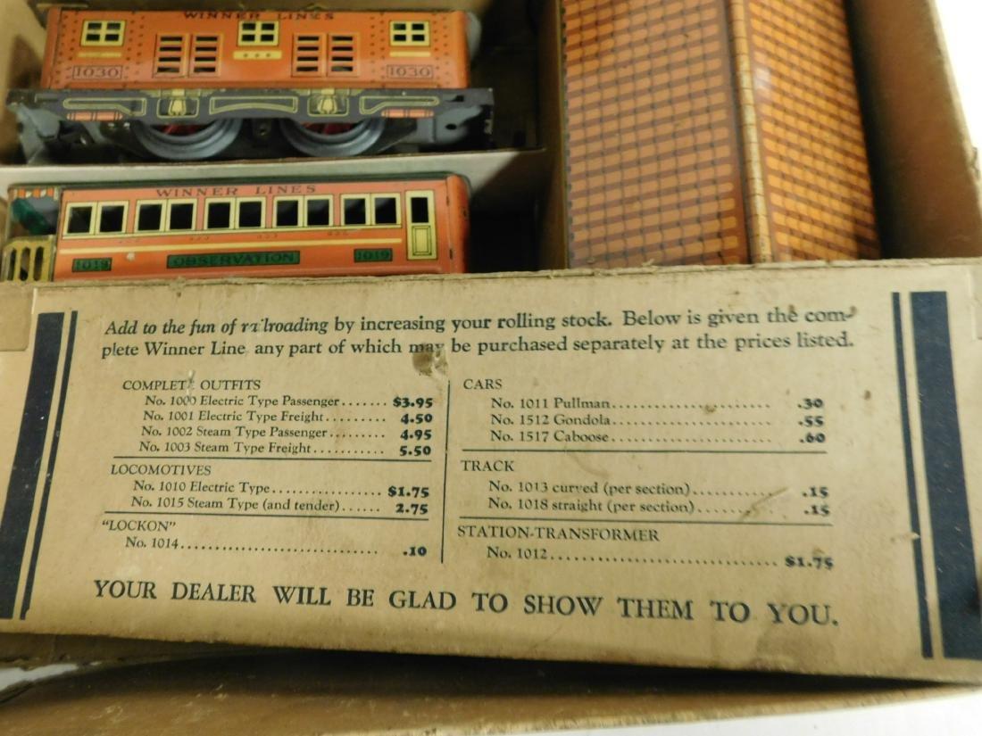 Vintage Winner Lines Train Set in Box - 3