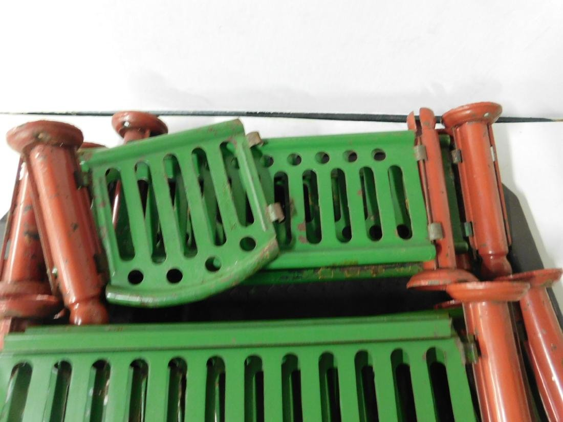 Lot Metal Toy Fence & Gate - 2