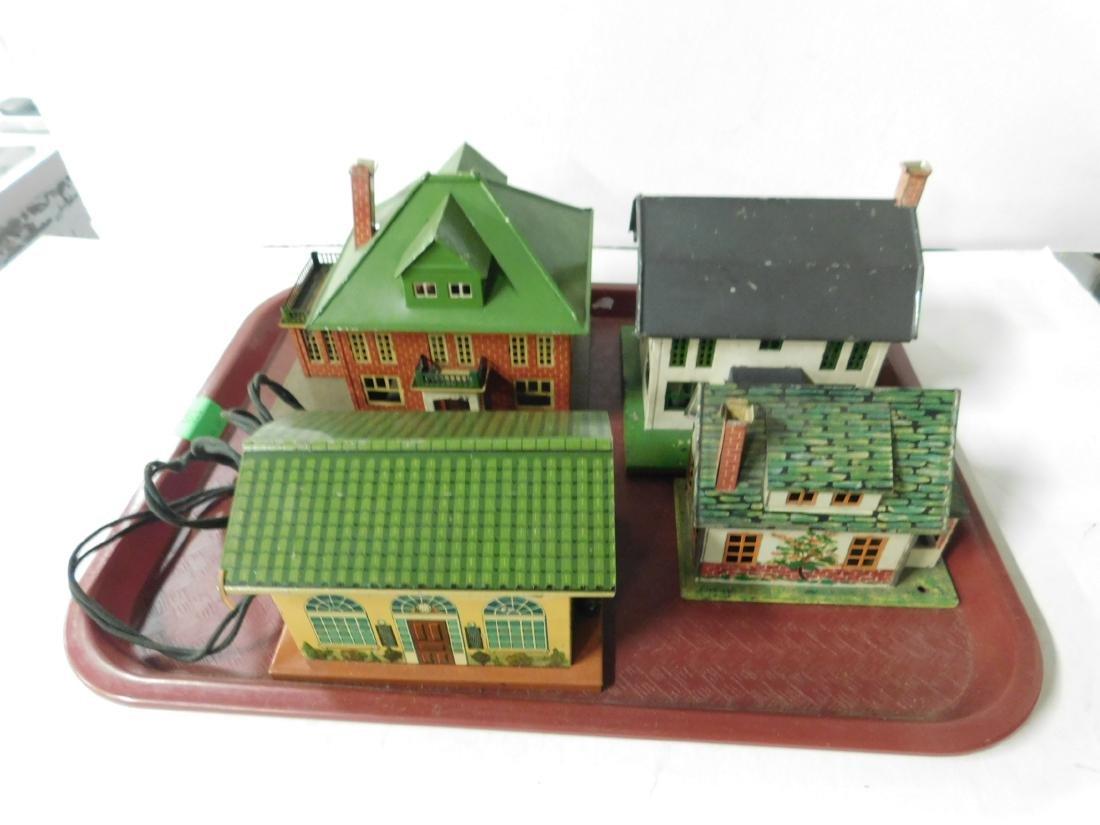 4 Lionel Tin Litho Buildings