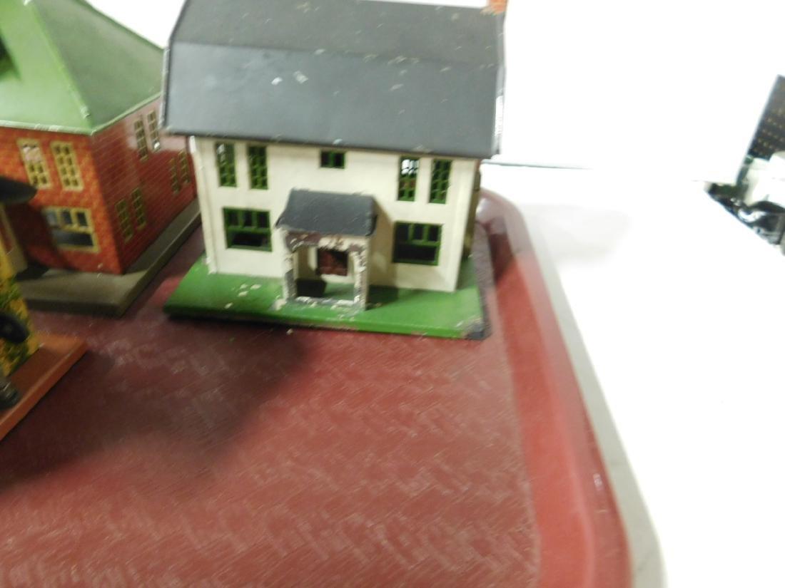 4 Lionel Tin Litho Buildings - 4
