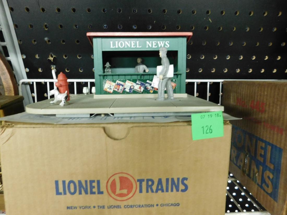 Postwar Lionel Animated Newsstand in Box - 2