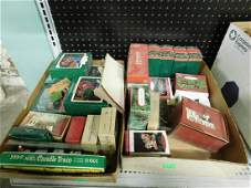 Large Lot train Christmas Ornaments