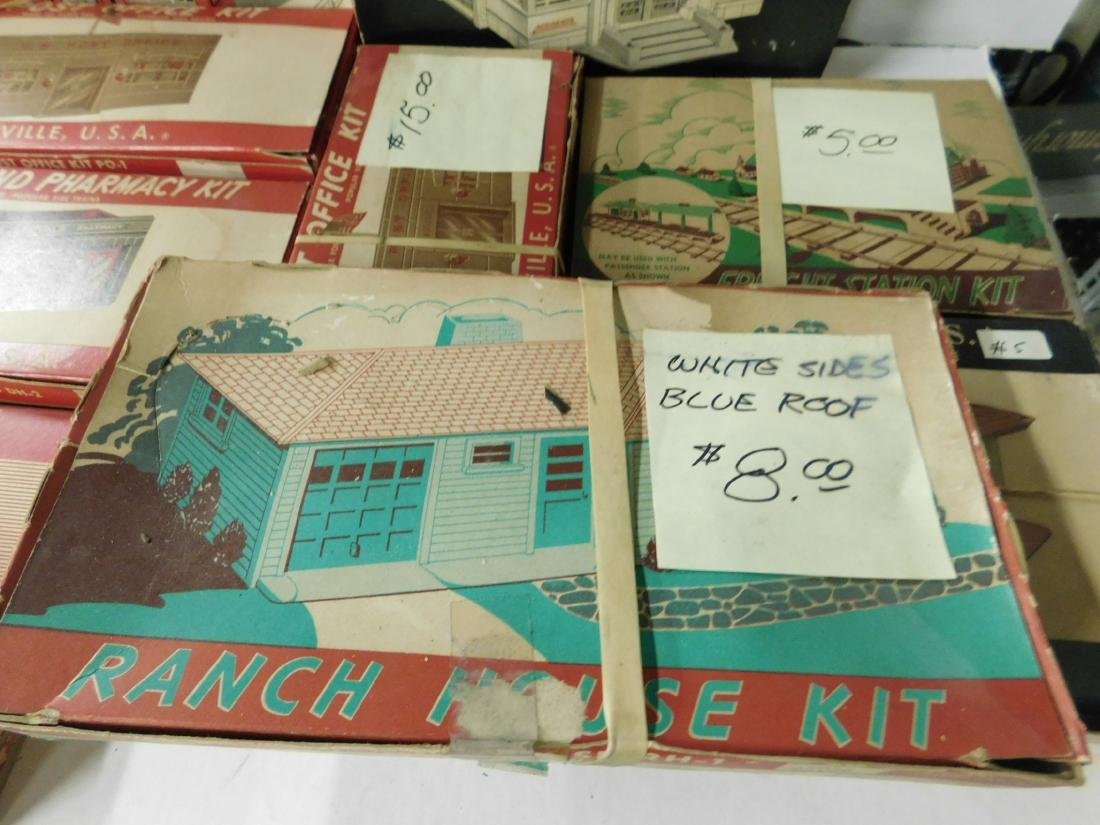 Lot Vintage Plasticville Buildings - 4