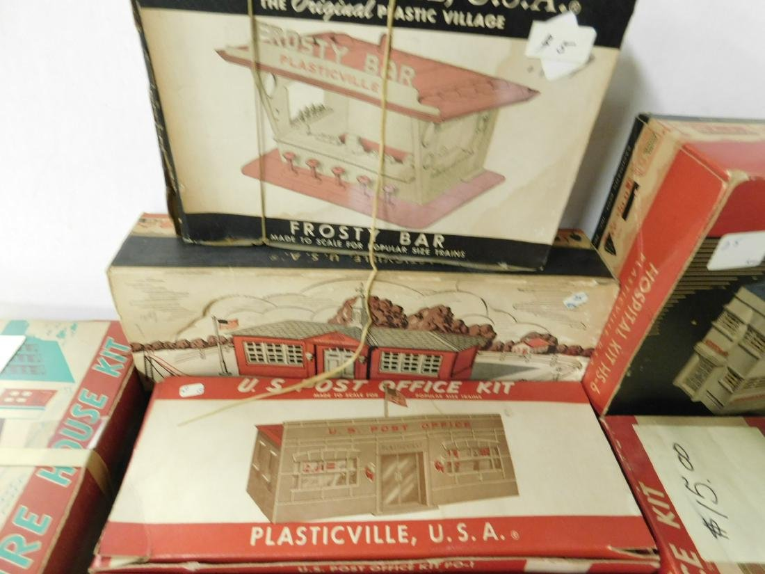 Lot Vintage Plasticville Buildings - 6