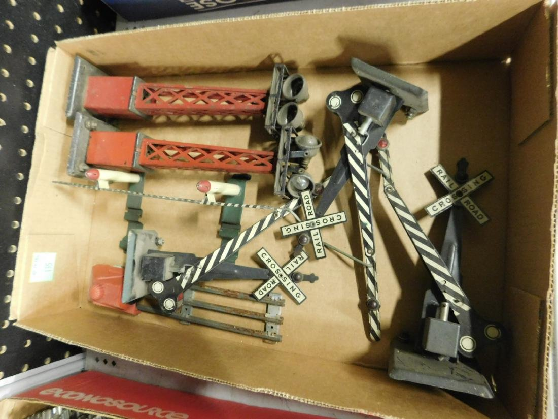 Lot Vintage Railroad Track Accessories