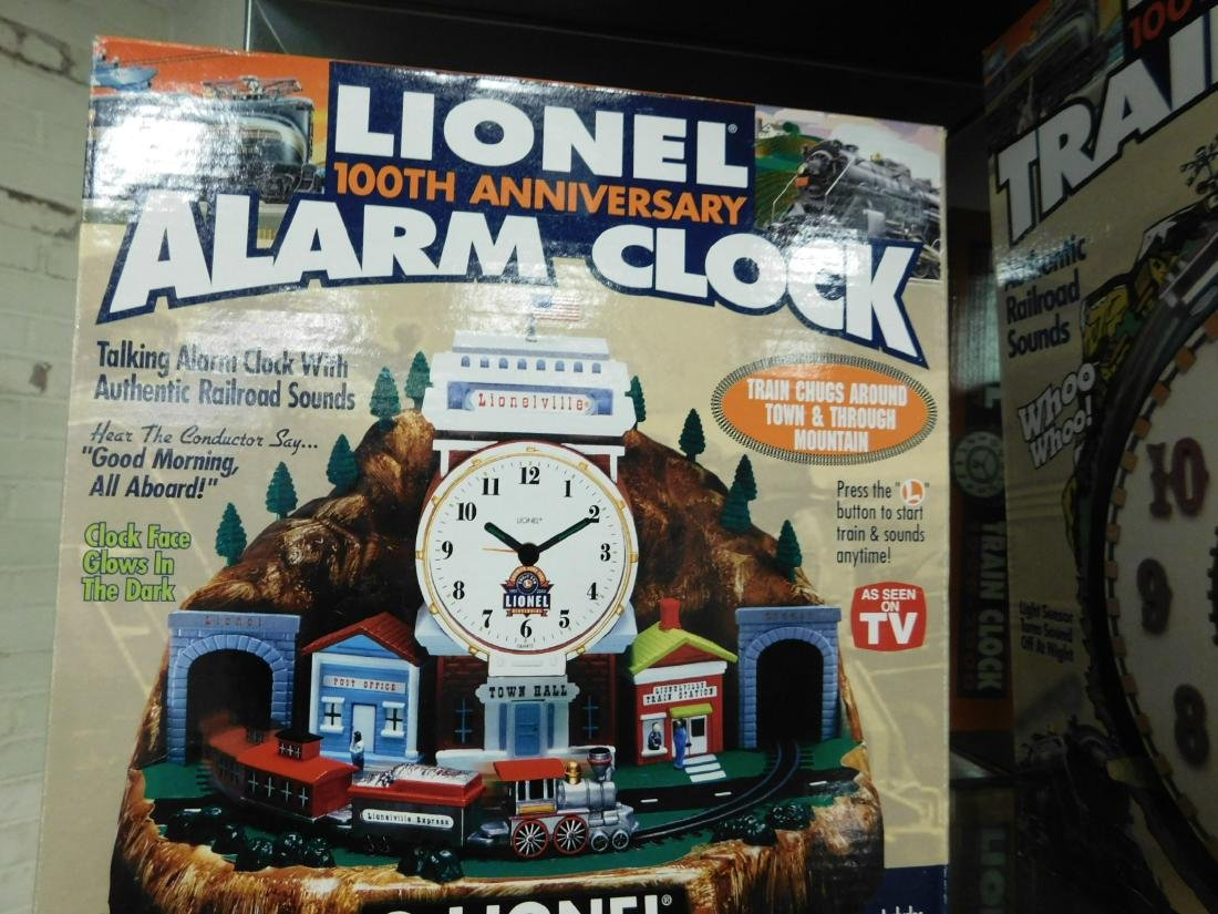Lionel Coin Sorter Alarm Clock & 2 Train Clocks - 2