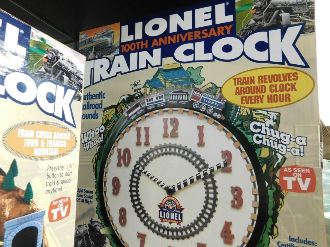 Lionel Coin Sorter Alarm Clock & 2 Train Clocks - 3