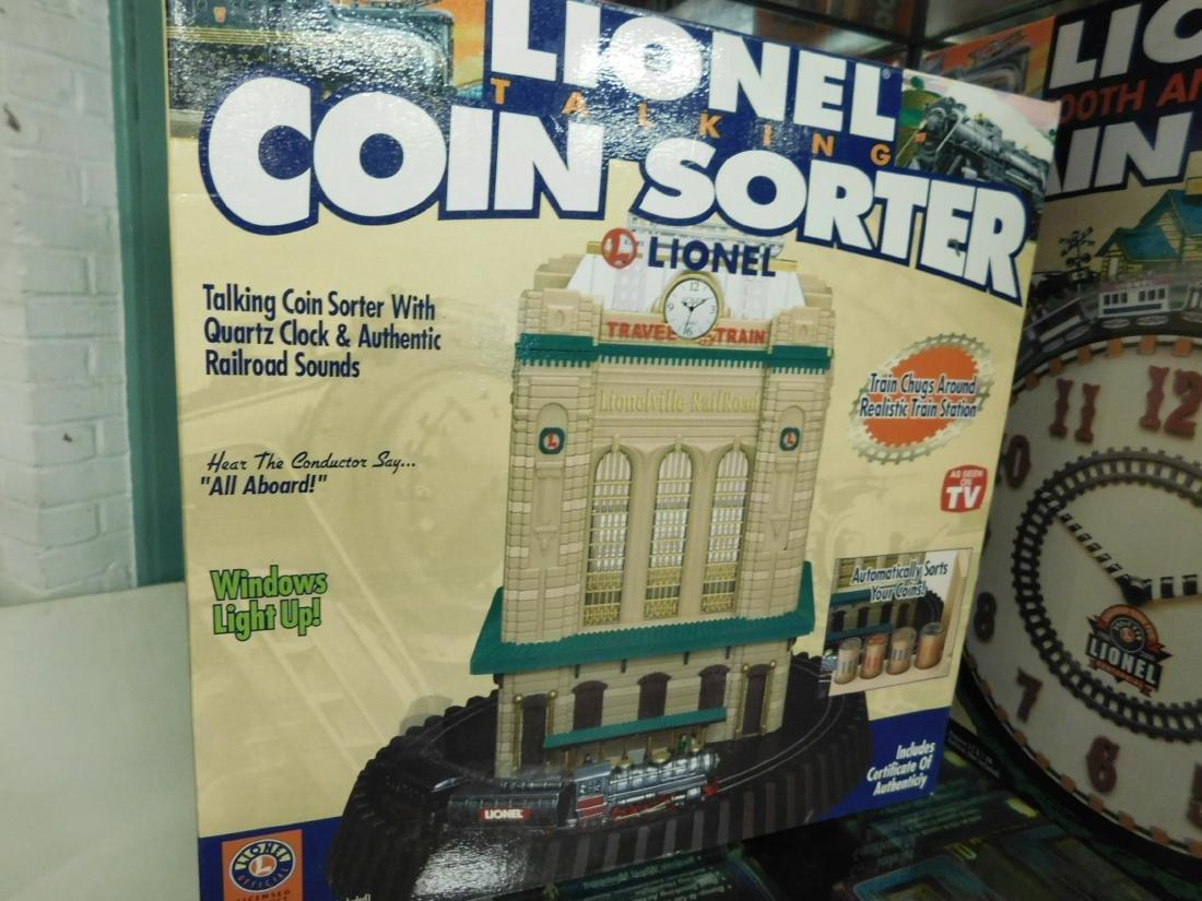 Lionel Coin Sorter Alarm Clock & 2 Train Clocks - 5
