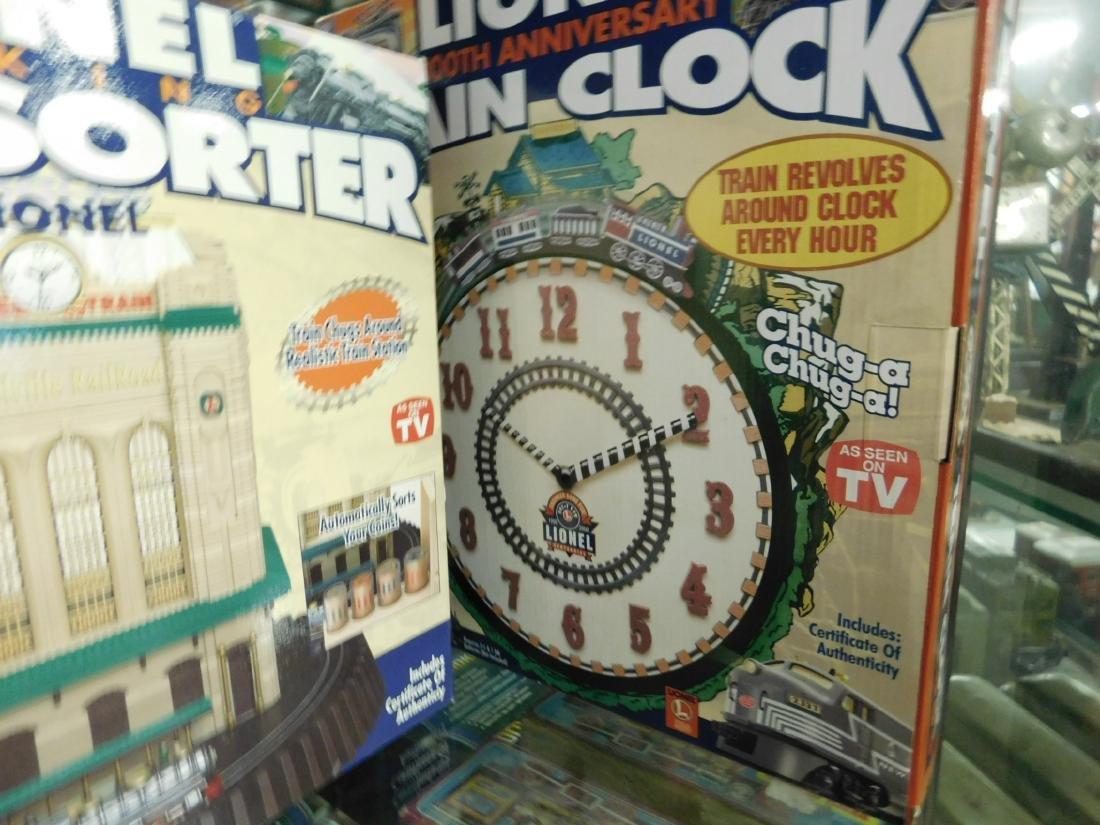 Lionel Coin Sorter Alarm Clock & 2 Train Clocks - 6