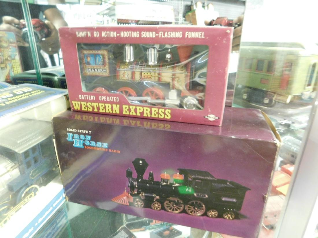 3 Vintage Battery Operated Locomotive Items - 3