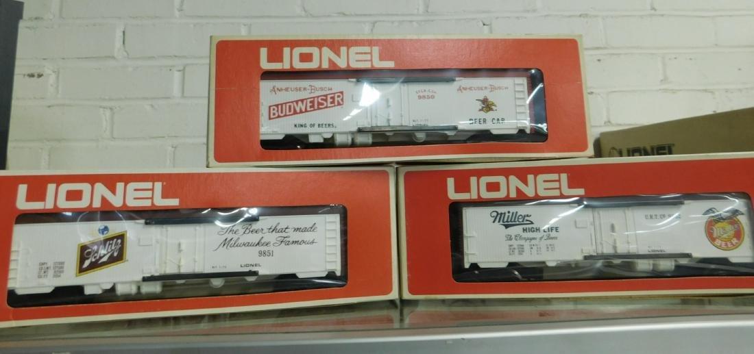 3 Lionel Beer Advertising Reefer Cars