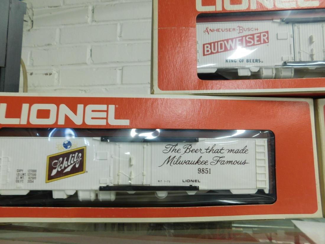 3 Lionel Beer Advertising Reefer Cars - 2