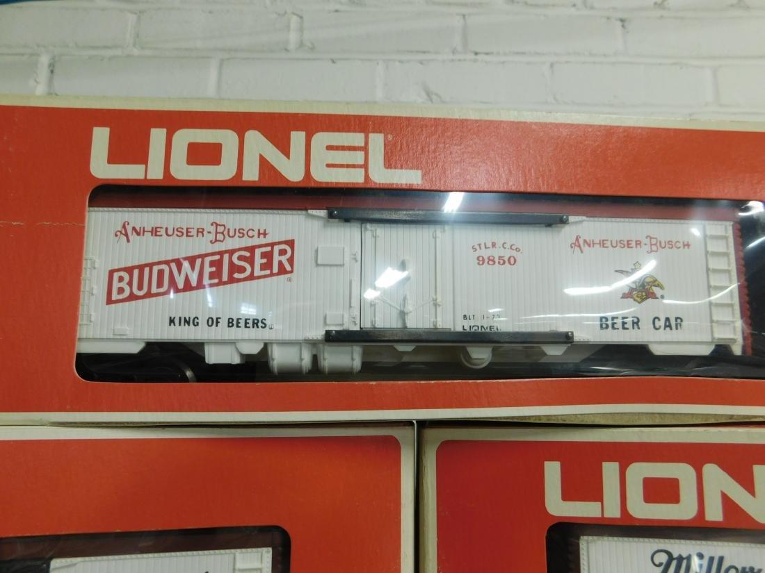 3 Lionel Beer Advertising Reefer Cars - 3